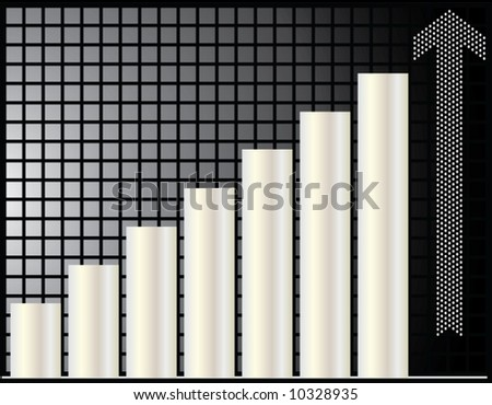 Ascending bar vector graphic