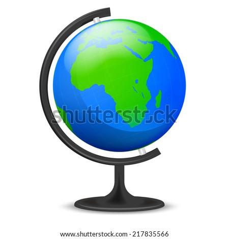 Asia education globe object isolated vector illustration - stock vector