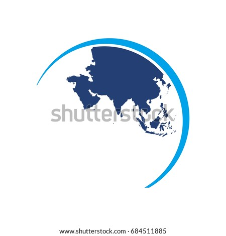 Asia globe map world map logo stock vector 684511885 shutterstock asia globe map world map logo vector gumiabroncs Images