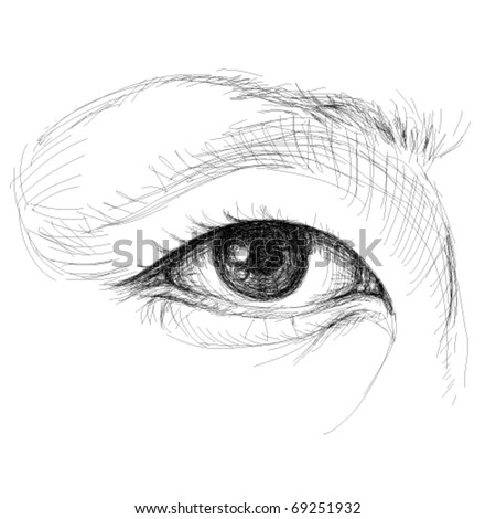 Asian Eye / realistic sketch (not auto-traced)