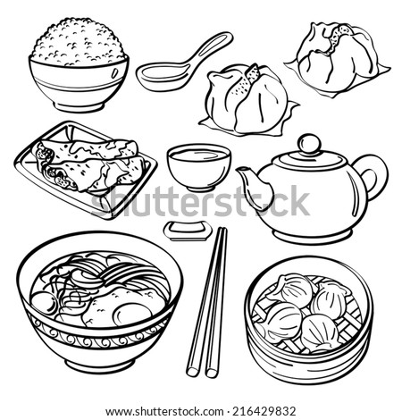 Asian food Collection - stock vector