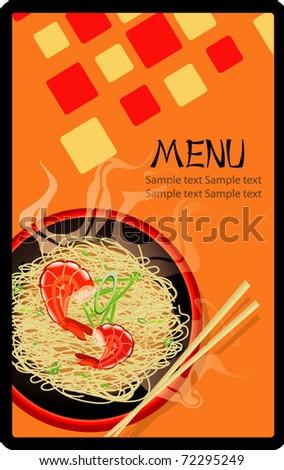 asian menu design  illustration - stock vector
