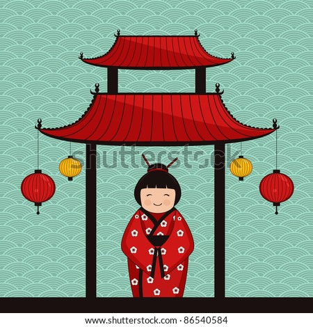 asian style background - stock vector