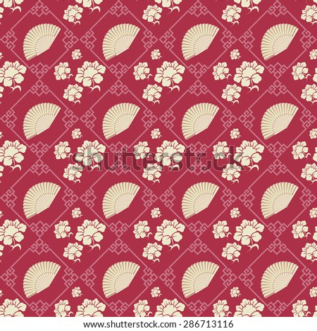 Asian stylish texture geometric tiles wallpaper pattern background in retro style for your design vector illustration  - stock vector
