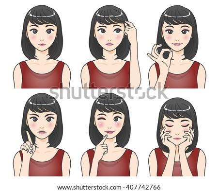 Wemon Asian pics cartoon