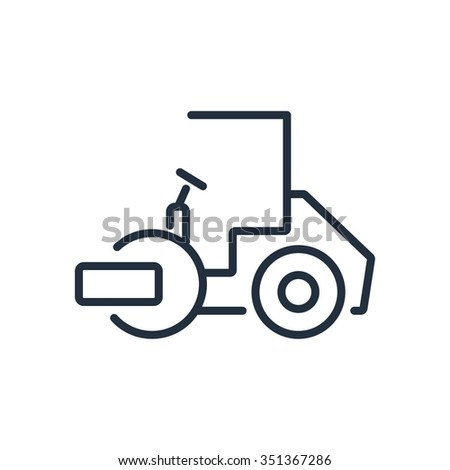 Asphalt paver icon - stock vector