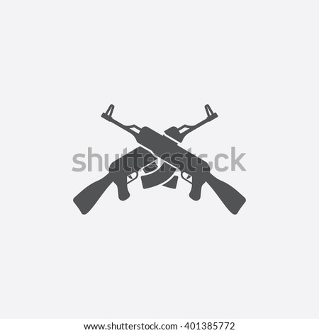 Assault rifles icon. Assault rifles icon vector. Assault rifles icon simple. Assault rifles icon app. Assault rifles icon new. Assault rifles icon logo.Assault rifles icon sign.Assault rifles icon ui. - stock vector