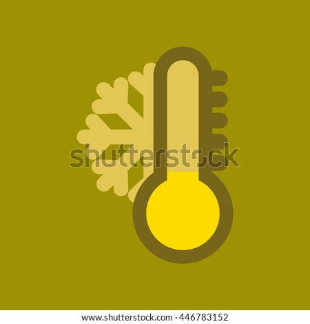assembly flat icons nature thermometer cold weather - stock vector