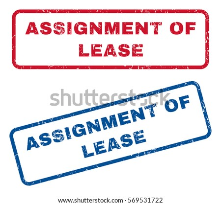 Assignment Lease Text Rubber Seal Stamp Stock Vector