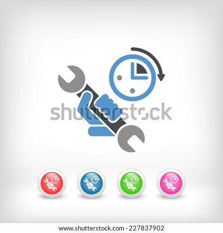 Assistance time icon - stock vector