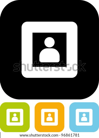 Assistant at the window - Vector icon isolated - stock vector