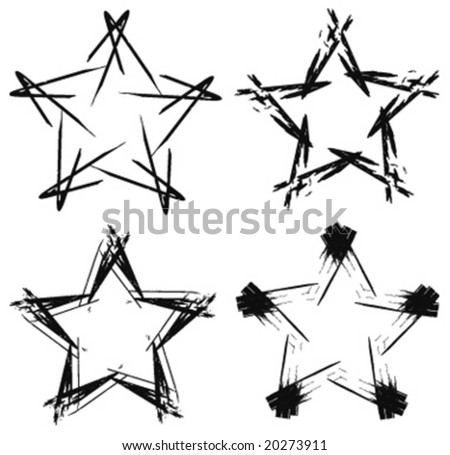 assorted vector star illustrations