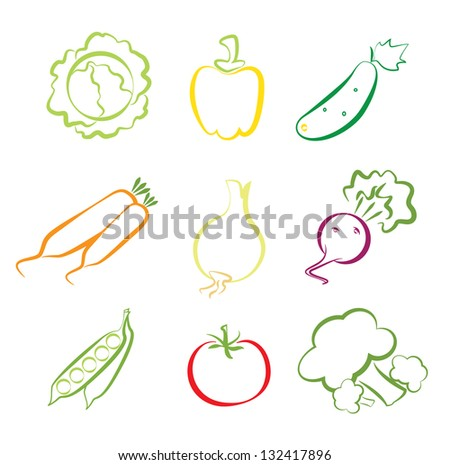 Assorted Vegetable Icons