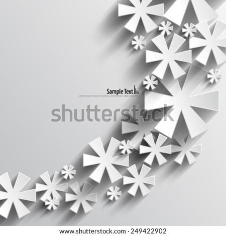 Asterisk Symbol Design Background - stock vector