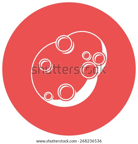 Asteroid, Flat design, silhouette, isolated on white background - stock vector