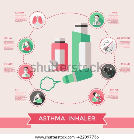 Bronchial tube stock images royalty free images vectors asthma inhaler page of website with lungs bronchial tubes pills dust stethoscope doctor patient vector illustration ccuart Gallery