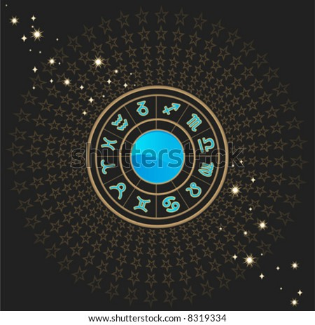 astrological horoscope (vector)