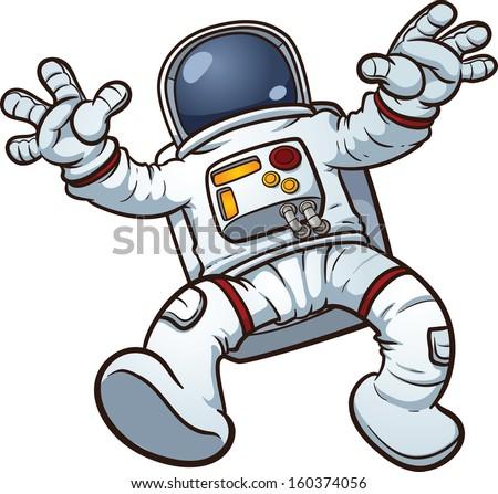 Astronaut clip art. Vector cartoon illustration with simple gradients ...