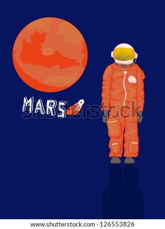 Astronaut icon - stock vector
