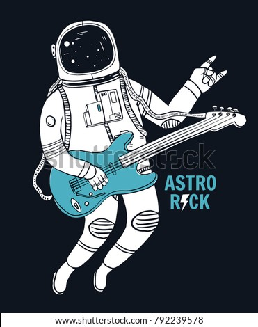 astronaut playing guitar in space - photo #14