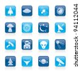 astronautics, space and universe icons - vector icon set - stock photo