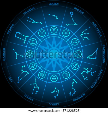 Astronomy zodiac circle zodiac signs icon stock vector 571228525 astronomy of zodiac circle with zodiac signs icon vector on black background stopboris Image collections