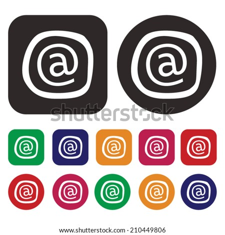 at sign symbol /  at sign icon / isolated - stock vector