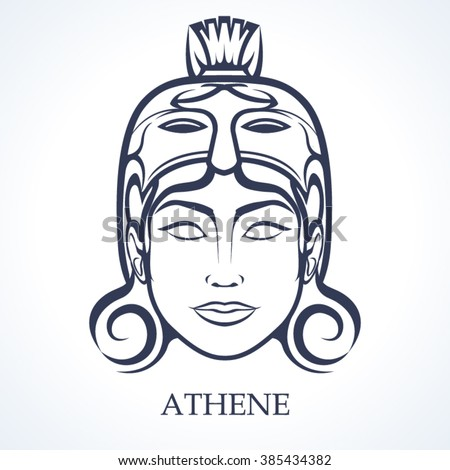 Athene  the Greek virgin goddess of reason, intelligent activity, arts and literature