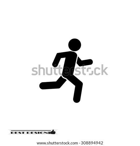 athlete - stock vector