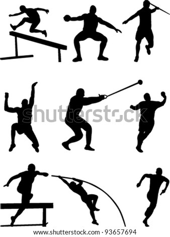athletic collection vector - stock vector