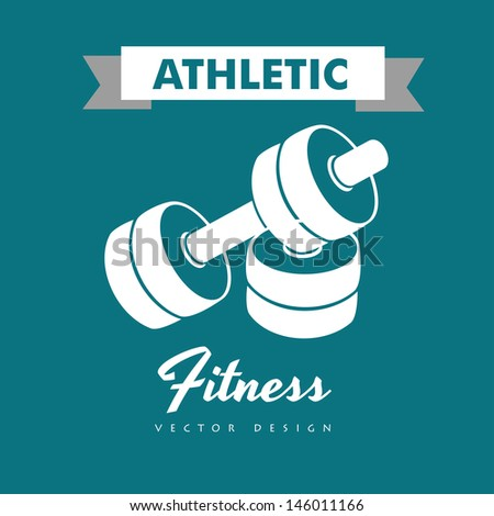 athletic fitness over blue background vector illustration  - stock vector