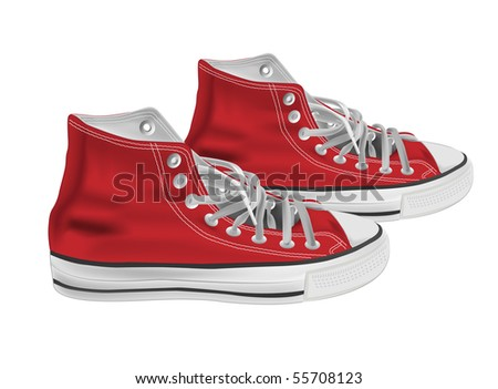 Athletic shoes vector illustration - stock vector