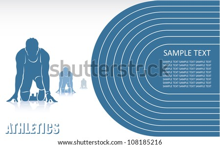 Athletics background - vector illustration - stock vector
