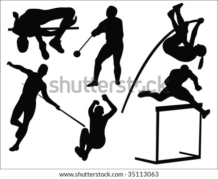 athletics sport collection vector - stock vector