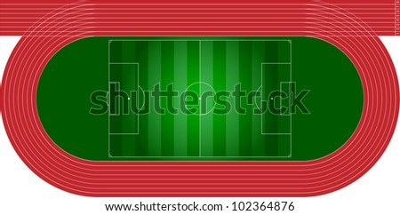 athletics track - stock vector