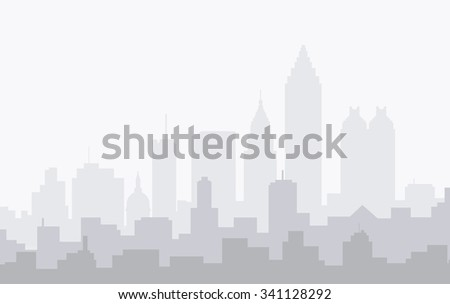 Atlanta at Winter Foggy Morning - Vector