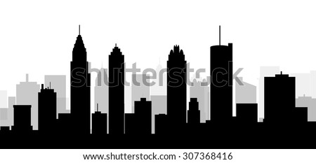 Atlanta City skyline