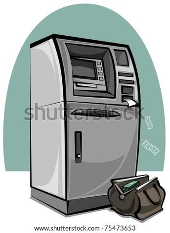 atm cash machine - stock vector