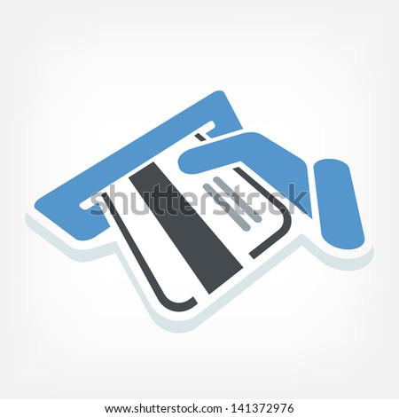 ATM credit card - stock vector
