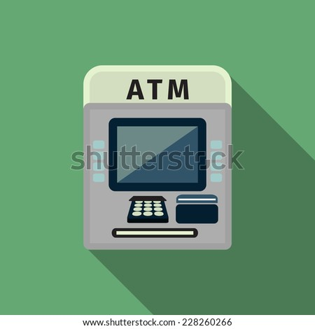 atm icon - stock vector