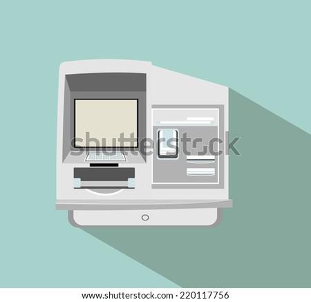 ATM vector - stock vector