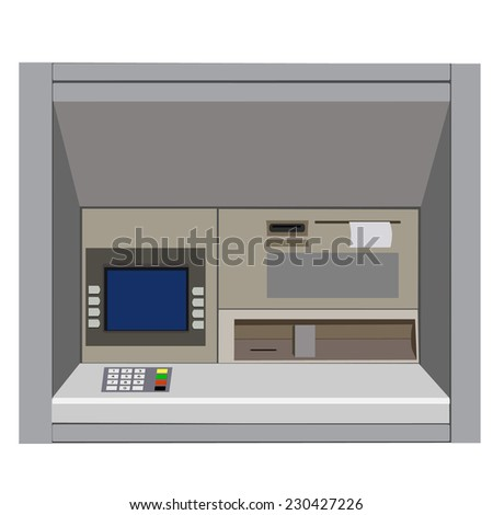 ATM vector, atm machine, cash machine, electronic - stock vector