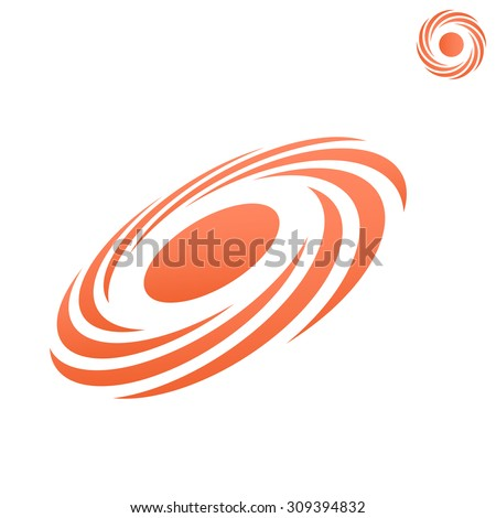 Atmospheric front icon, storm logo, o letter shape, 2d & 3d vector on white background, eps 8 - stock vector