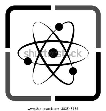 atom -  black vector icon