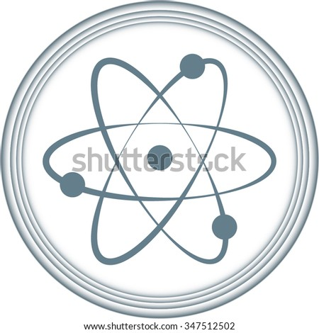 atom - black vector icons