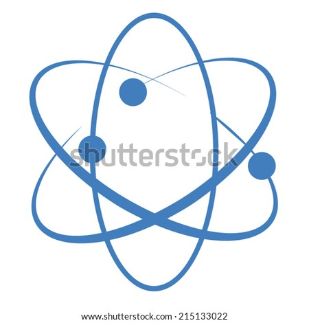 Atom elements and symbols set for science concept - stock vector