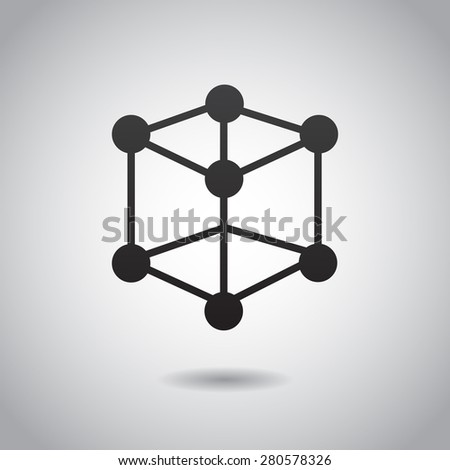 Atom icon isolated on white background. Vector art. - stock vector