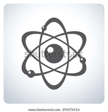 Atom. Icon symbol logo design. Vector illustration.