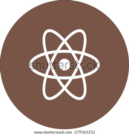Atom, molecule, science icon vector image. Can also be used for energy and technology. Suitable for web apps, mobile apps and print media. - stock vector