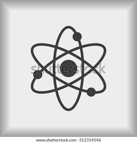 Atom sign icon - stock vector
